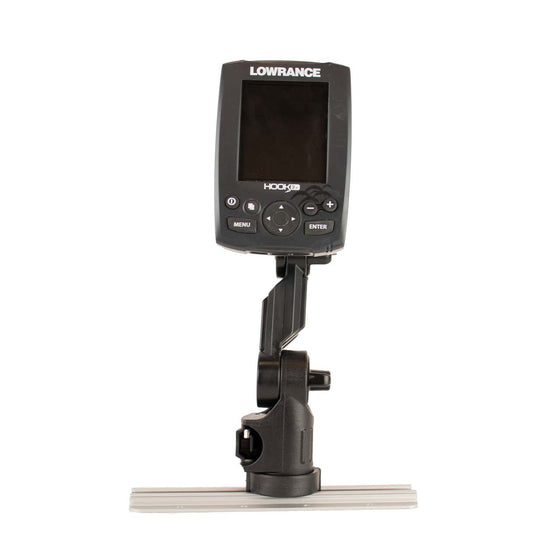 Lowrance Fish Finder Mount with Track Mounted LockNLoad Mounting System
