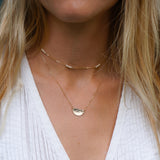 Hammered Half Circle Necklace