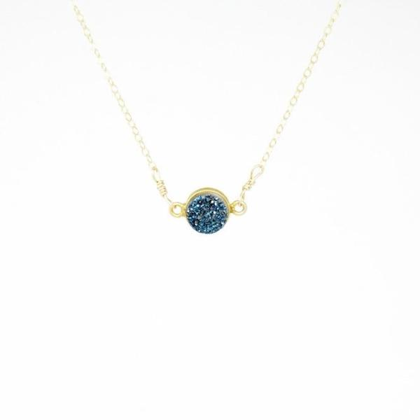 Royal Blue Drusy Necklace