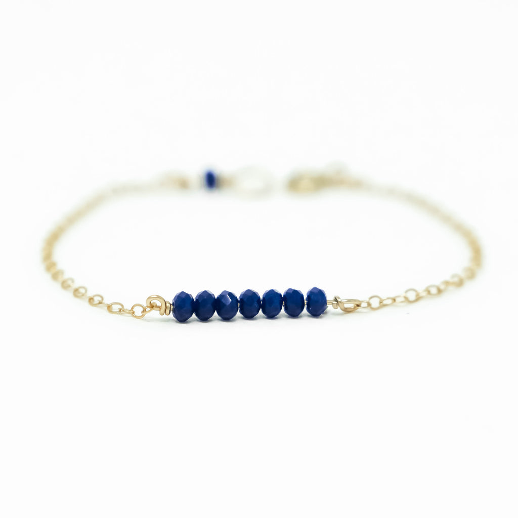 Dark Blue Bar Bracelet