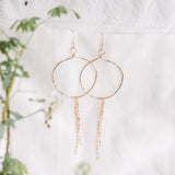 Gold Hoops with Chain