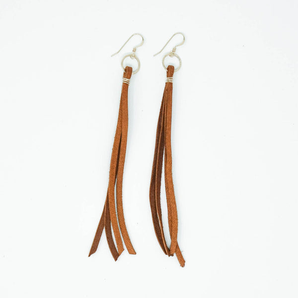 Sandstone Deerskin Lace Earrings