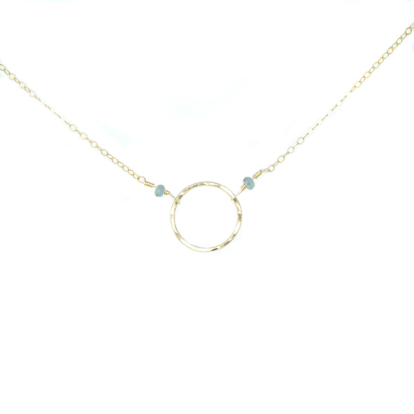 Rae Necklace w. Blue