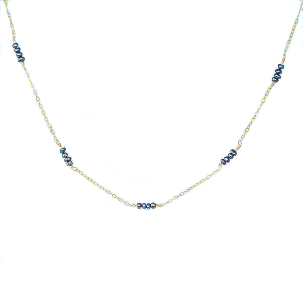 Siena Necklace - Indigo Pearl