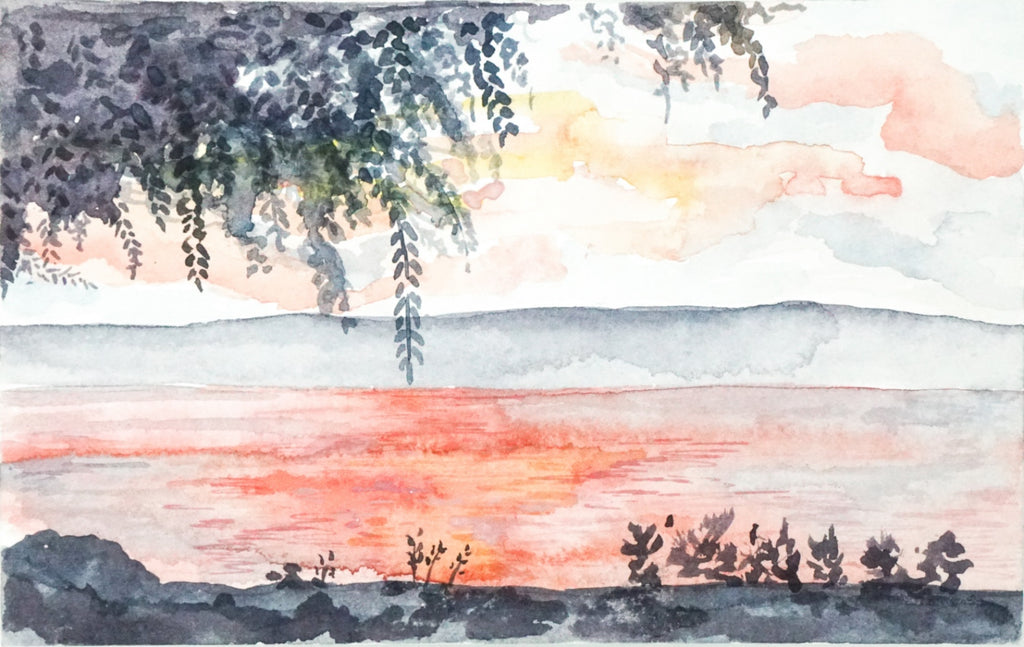 Sea of Galilee Sunset // 8x5