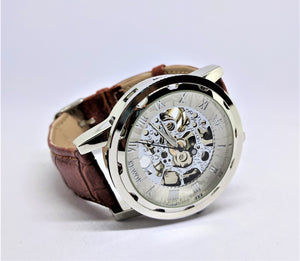 Custom mechanical watch, personalized watch for him.