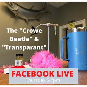 Mossy Creek Fly Tying Live! Transparant and Crowe Beetle