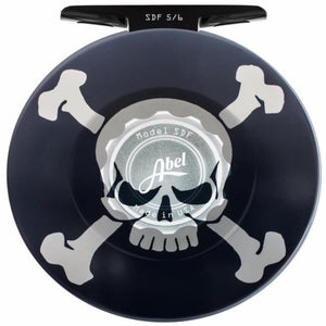 Abel SDF 5/6 Custom Skull and Crossbones Fly Reel - Mossy Creek Fly Fishing