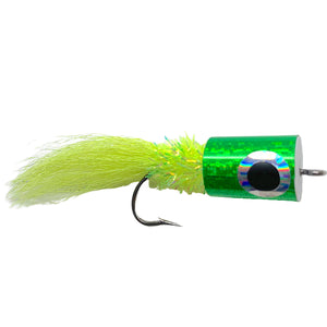 Banger Popper Chartreuse - Mossy Creek Fly Fishing