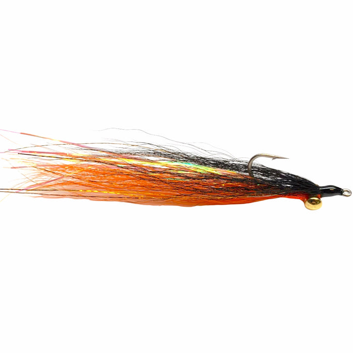 Clouser Minnow Black Over Orange
