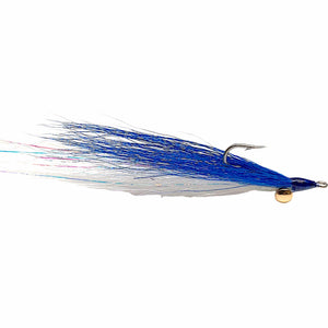 Clouser Minnow Blue Over White - Mossy Creek Fly Fishing