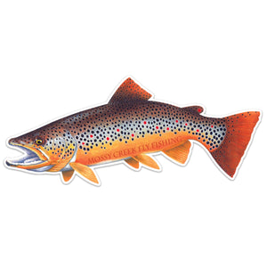 "Mossy Creek Brown Sticker 9"" - Mossy Creek Fly Fishing"