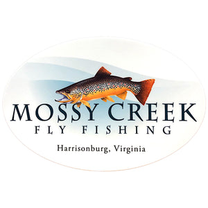 Mossy Creek Logo Blue Wave Sticker - Mossy Creek Fly Fishing