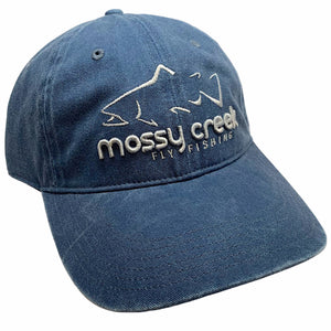 New Mossy Creek 6 Panel Hat Navy - Mossy Creek Fly Fishing