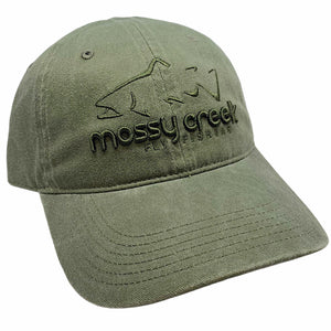 New Mossy Creek 6 Panel Hat Light Olive - Mossy Creek Fly Fishing