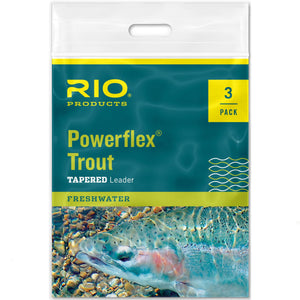 RIO Powerflex Trout Leader 3 Pack - Mossy Creek Fly Fishing