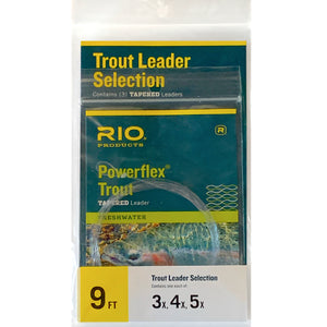 RIO Powerflex Trout Leader Selection - Mossy Creek Fly Fishing