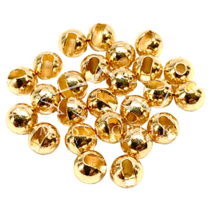 Slotted Tungsten Bead Gold