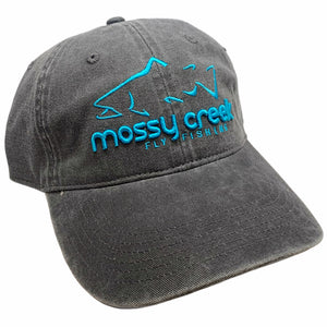 New Mossy Creek 6 Panel Hat Charcoal - Mossy Creek Fly Fishing