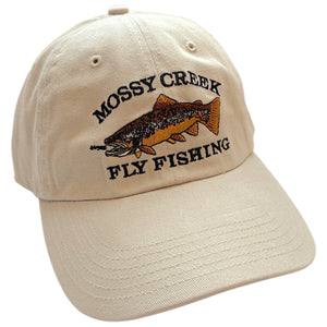 Mossy Creek Vintage 6 Panel Hat Stone - Mossy Creek Fly Fishing