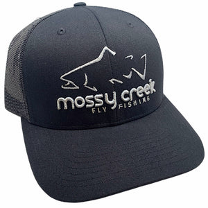 Mossy Creek Logo Trucker Black - Mossy Creek Fly Fishing
