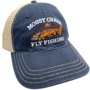 Mossy Creek Logo Unstructured Trucker Navy - Mossy Creek Fly Fishing
