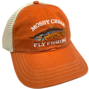 Mossy Creek Logo Unstructured Trucker Texas Orange - Mossy Creek Fly Fishing
