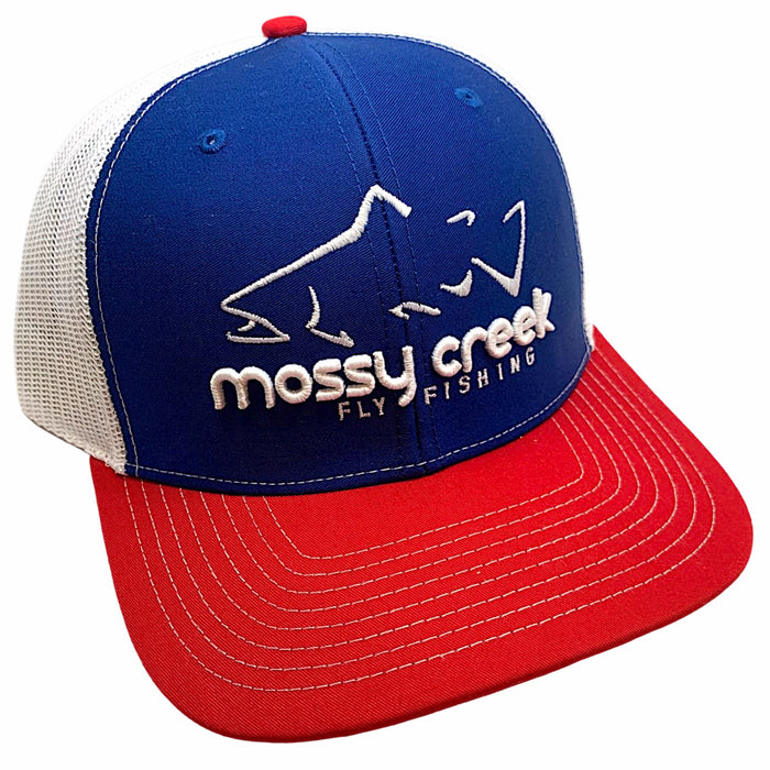 Mossy Creek Logo Trucker Red White and Blue