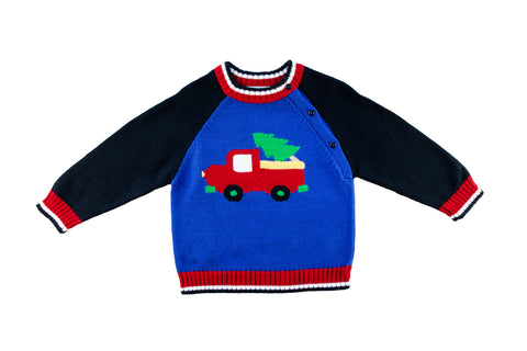 boy's sweater with truck