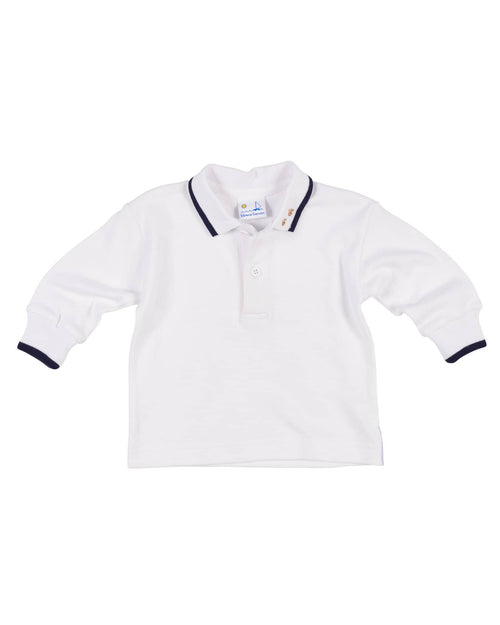 Embroidered Pawprint Polo