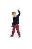 Boys Cardigan Sweater with Bugle Bear - Florence Eiseman
