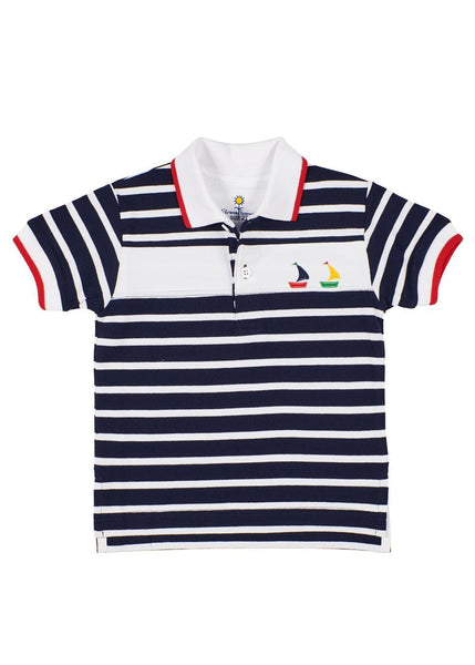 Knit Polo With Boats