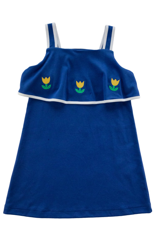Royal Knit Dress With Tulips