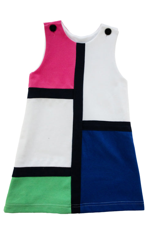 Girls Color Block Knit Dress