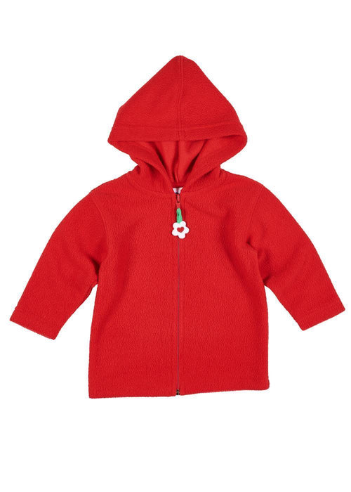 Red French Terry Hooded Jacket