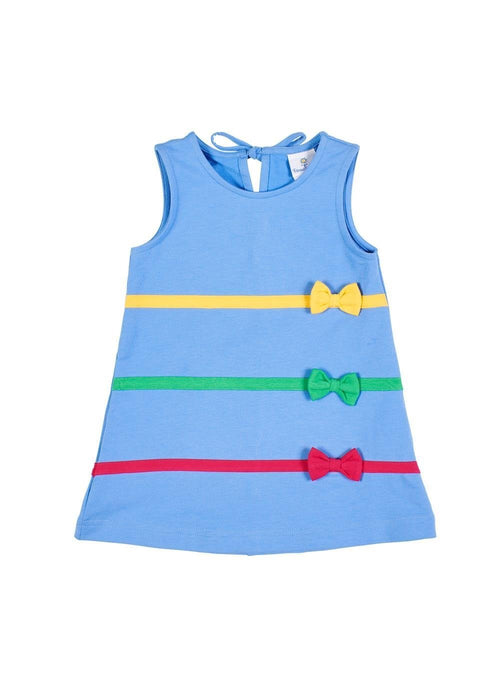 Periwinkle Girls Jumper Dress with Bows