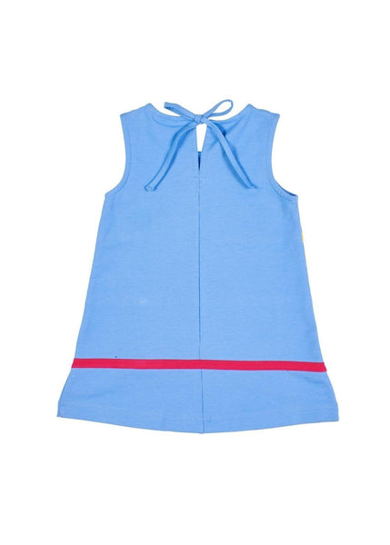 Periwinkle Girls Jumper Dress with Bows Back