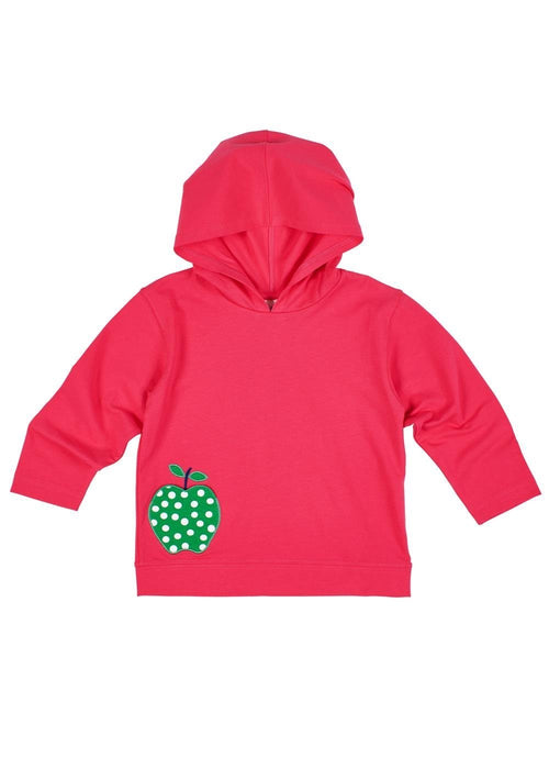 Bright Pink Hoodie With Apple
