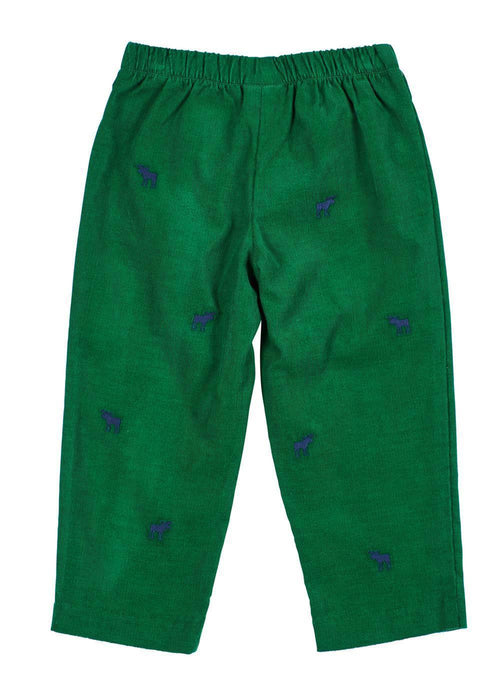 Corduroy Pant With Embroidered Moose