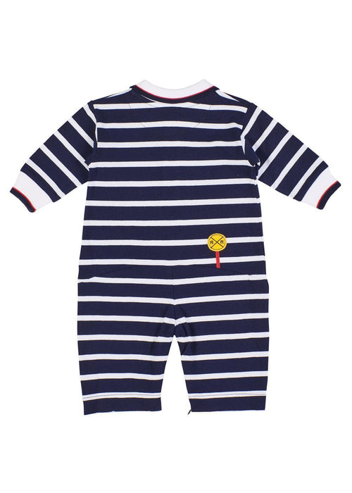 Navy Stripe Longall With Train