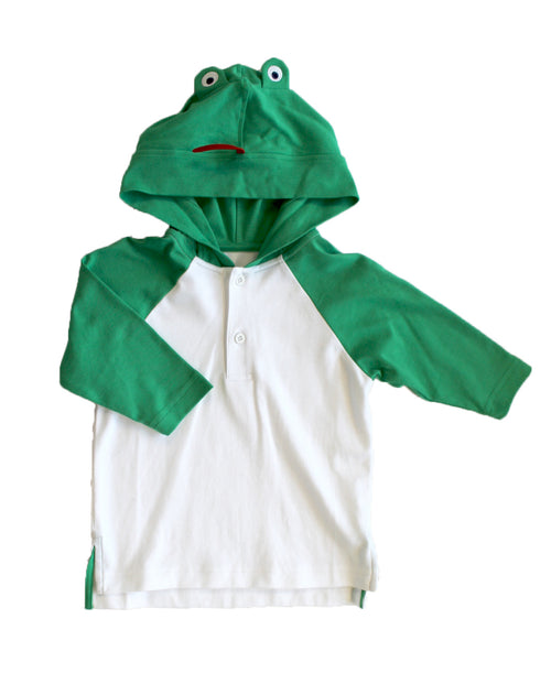 Boys Swim Coverup with Frog Hood