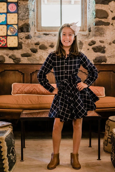 Plaid Shirt Dress - Florence Eiseman