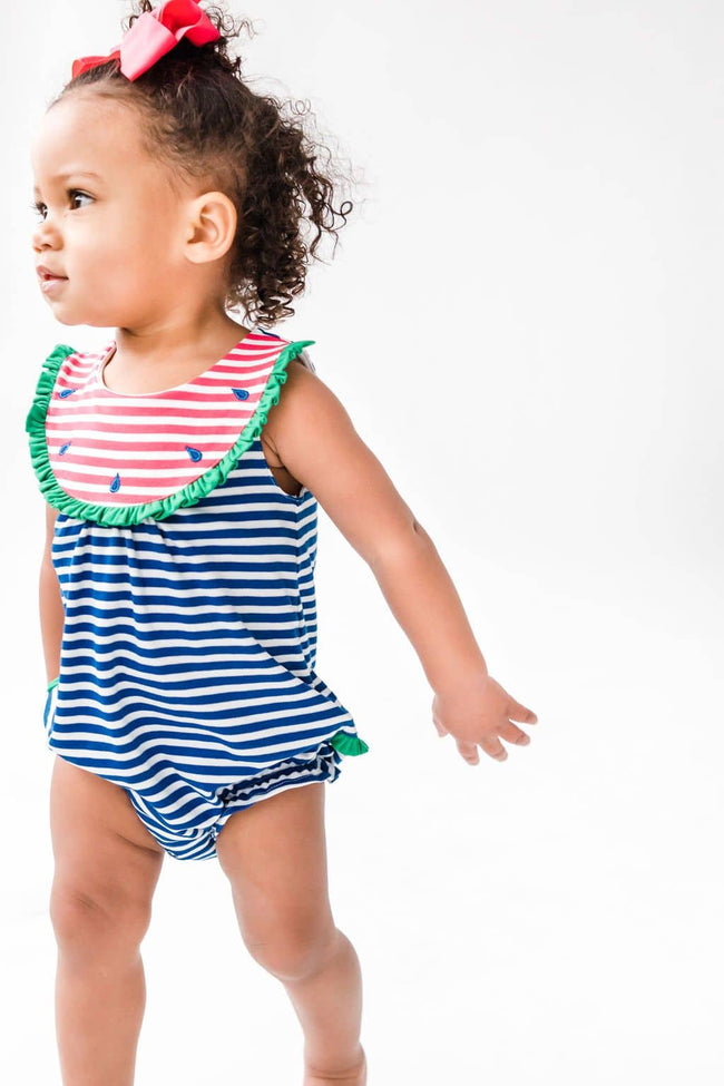 Watermelon Romper with Ruffle