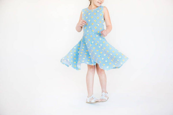 Pineapple Print Circle Skirt Dress