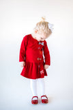 Red Knit Bow Dress - Florence Eiseman