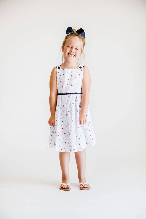Nautical Print Sundress - Florence Eiseman