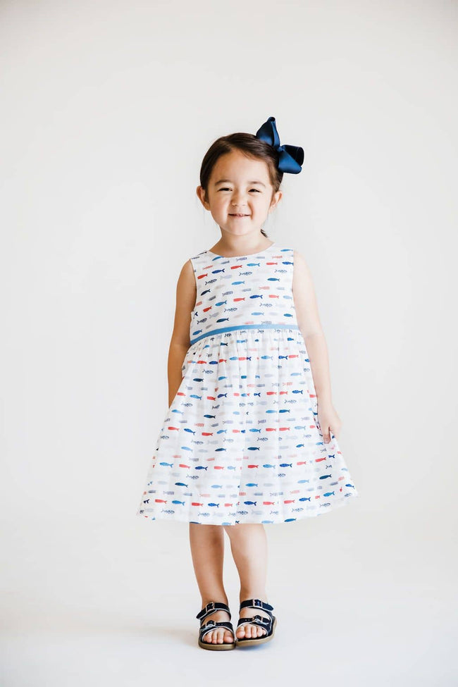 Fish Print Sundress