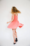 Coral Crepe Dress - Florence Eiseman