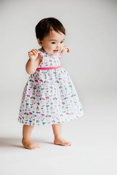 Summer Print Dress and Bloomer