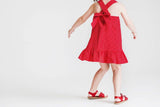 Red and Navy Reversible Ladybug Dress - Florence Eiseman